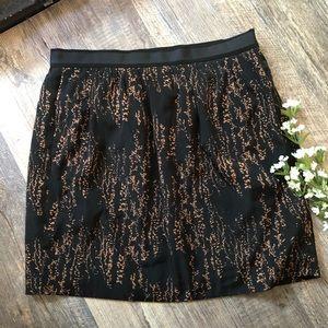 GAP Black and Gold Skirt